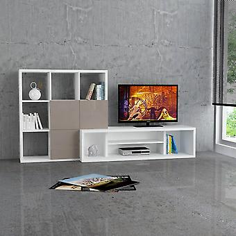 Mobile Porta TV Debi Color Cappuccino in Truciolare Melaminico 215x45x110 cm