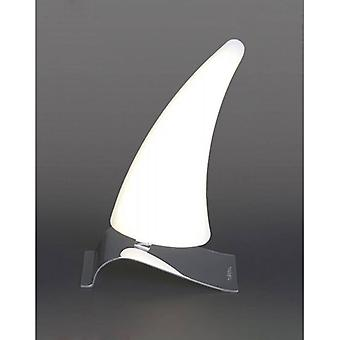 Mistral Right Table Lamp 6w Led 3000k, 540lm, Polished Chrome / Frosted Acrylic