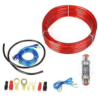 1500W car wire wiring amplifier subwoofer audio installation kit 8ga power cable 60 amp fused holder