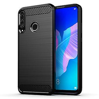 Huawei P40 Lite E - Joustava hiili pehmeä TPU shell - musta