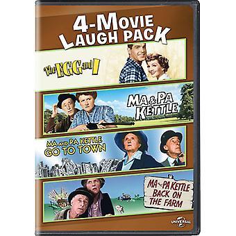 4-Film Lachen Pack: Ei & I / Ma & Pa Wasserkocher / Me [DVD] USA import