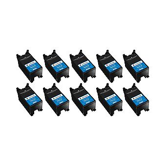 RudyTwos 10x Replacement for Dell X769N Ink Unit Tri-Colour(CyanYellow&Magenta) Compatible with P513W, V313, V313W, P713W, V715W, V515W