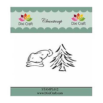 Sombrero de Navidad Dixi Craft & Sellos claros de árbol