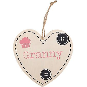 Something Different Granny Hanging Heart Sign