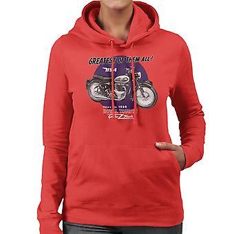 BSA Greatest Of Them All Golden Flash Women's Hooded Sweatshirt