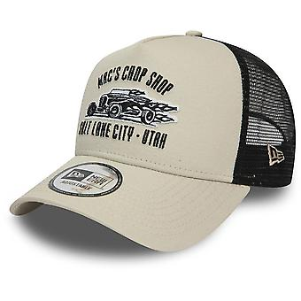New Era A-Frame Trucker Cap - MOTORSPORT Chop Shop beige