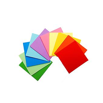 50 Sheets of 3 Inch (75mm) Assorted Coloured Origami Paper
