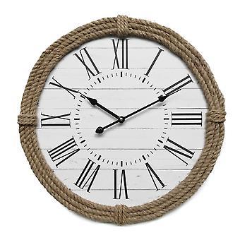 Rebecca Møbler Watch Design Mdf Hvide romerske tal Analog 50x50x5.5