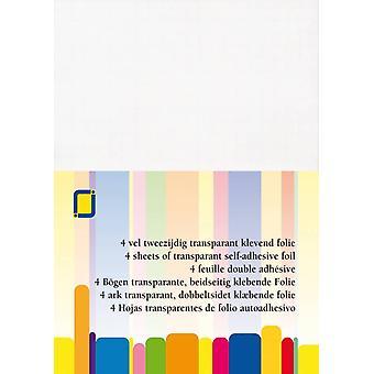 JEJE Produkt Self-adhesive Foil White A4 4 Sheets