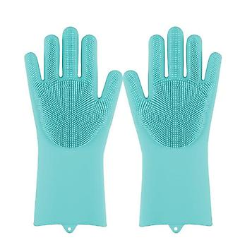 Magic Food Grade Silicone Dishwashing Scrubber - Rubber Scrub Gloves