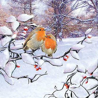 Ambiente 3 Ply Paper Napkins, Robins on a Branch