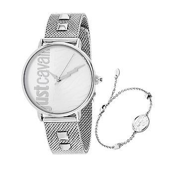 JC1L077M0055, Just Cavalli Women's Zebra - Plata - Reloj de cuarzo