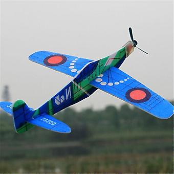 Random Color 1pc 19cm Hand Launch Throwing Glider Inertial Foam Airplane - Outdoor Toy For Childrens