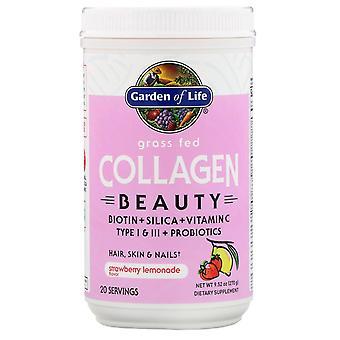 Garden of Life, Grass Fed Collagen Beauty, Strawberry Lemonade, 9.52 oz (270 g)