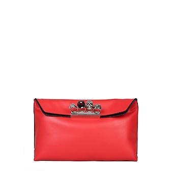 Alexander Mcqueen 631864csrwy6013 Women's Red Leather Clutch