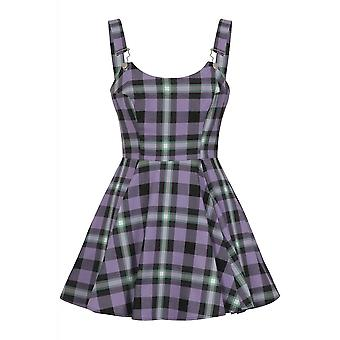 Collectif Clothing Rochelle Hocus Pocus Check Skater Dress