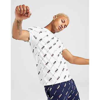 Nieuwe Fila Men's Malcolm Short Sleeve T-Shirt Wit