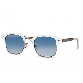Sunglasses Unisex panto halbrandlos cat.3 white/blue