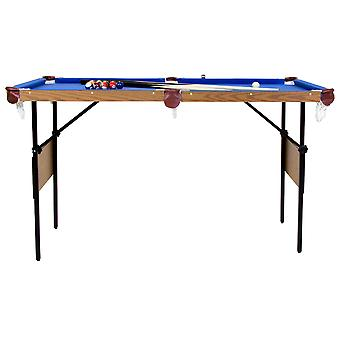 Charles Bentley 4ft 6in Blue Pool Games Table Including Balls & 2 Cues