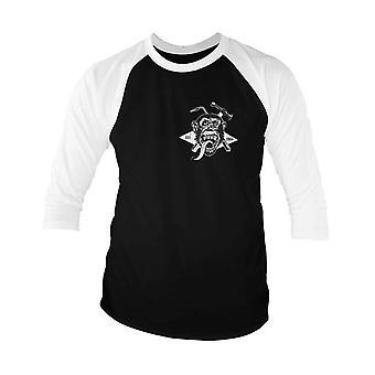 Gas Monkey Garage Baseball Shirt Torch et Hammer Officiel Homme 3/4 Manche