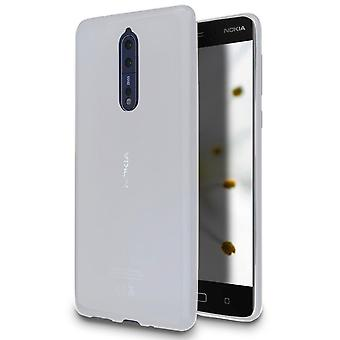 Ultra-Slim Shell Protection for Nokia 8 | White Shock Resistant TPU