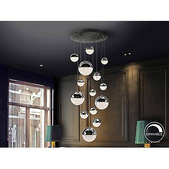 Integrated LED Dimmable Cluster Drop Ceiling Pendant Copper