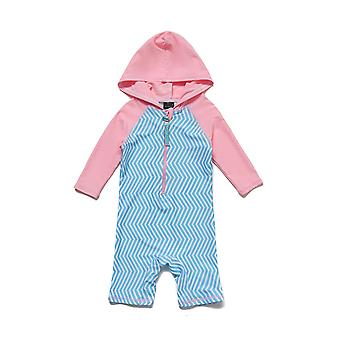 Bonverano Girls UPF 50+ Sun Protection 3/4 Sleeves Zipper Hooded Swimsuit