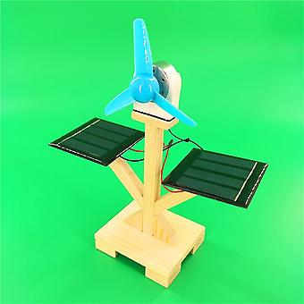 Solar Fan Model Building Material Kits Hybrid Drive Science Experiment Discovery Toys Creative Educational (colorful)