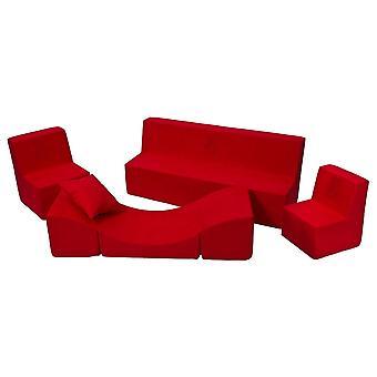 Muebles para niños pequeños juego de rojo extendido