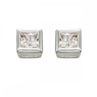 بدايات الجنيه الاسترليني الفضة E196C 4.5mm مربع مسمار الأقراط