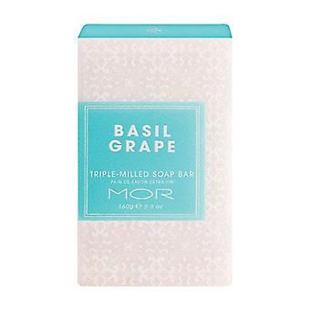 Mor Triple Milled Soap Bar 160G Basil Grape