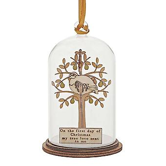Kloche by Millbrook Gifts Partridge In A Pear Tree Hanging Ornament