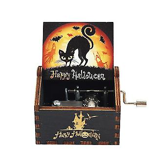 Hand Crank Wooden Music Box,jurassic Park,halloween,you Are My Sunshine ,