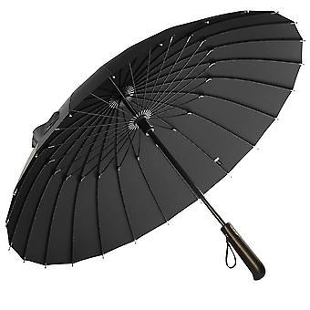 Sateenvarjo puisella kahvalla - Musta