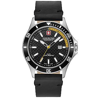 Reloj masculino militar suizo Hanowa 06-4161.2.04.007.20, cuarzo, 42 mm, 10ATM