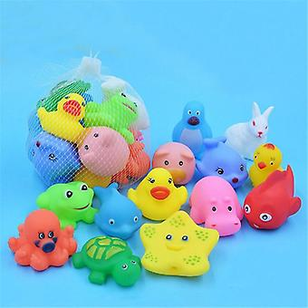 Colorful Soft Rubber Floating Animals Squeeze Sound Squeaky Bath