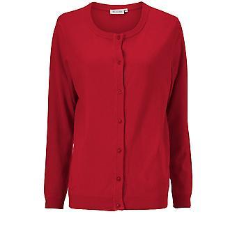 Masai Clothing Lori Red Knit Cardigan