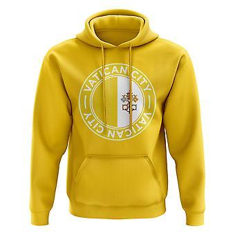 Vatikaanin jalkapallomerkki Huppari (keltainen)