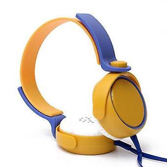 Värikäs 3,5 mm:n stereokuulokkeet korva kuulokkeilla mikrofoniin