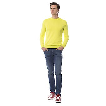 Trussardi Jeans Long Sleeve Lime Sweater