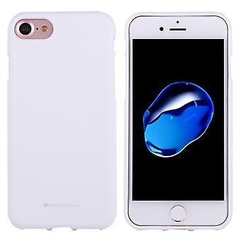 מרקורי GOOSPERY רך תחושה עבור iPhone 8 & & 7 מצב נוזלי TPU טיפה הוכחה רך מגן בחזרה כיסוי כיסוי (לבן)