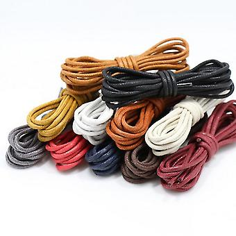 Waxed Cotton Round Shoelaces Fashion Classic Unisex Waterproof Leather Shoe