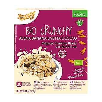 Bio crunchy oats banana raisins and coconut 375 g