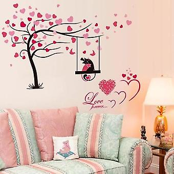 Couple Sticker Room Tree And Butterflies