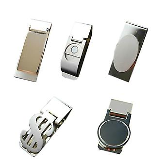 Oțel inoxidabil / argint Roman Nou Slim Pocket Cash Id Card de credit Dolar
