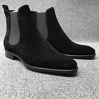 Men's Classic Fashion Chelsea Frosted Casual High-top Botas de Inverno/Outono