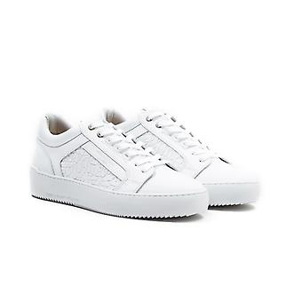 Android Homme Venice White Mosaic Leather Trainers