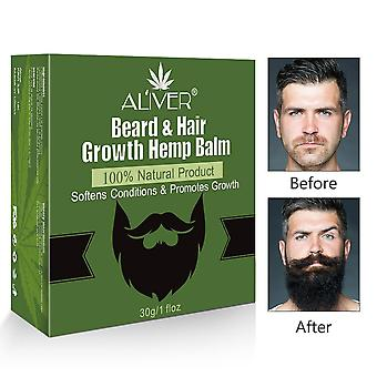 Natural Smooth Styling Hemp Beard Grooming Essential Oil, Growth Wax