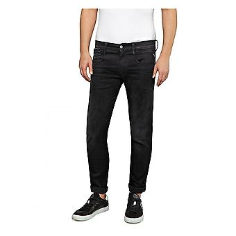 Replay Jeans Replay Hyperflex Slim Fit Anbass Clouds Jean - Black