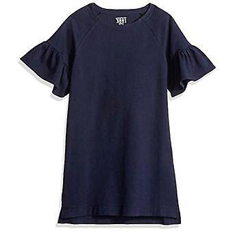 Brand- LOOK by Crewcuts Girls' Flare Sleeve Dress, Navy, X-Small (4/5)
